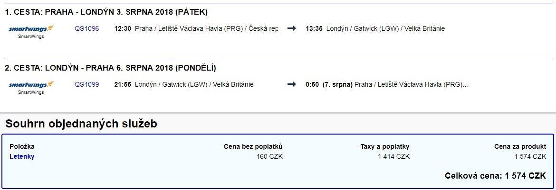 Nejlevnější letenky z Prahy do Londýna