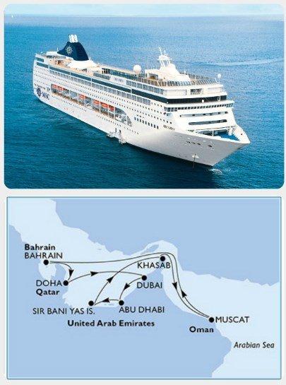 Okružní plavba Dubaj Bahrajn Katar