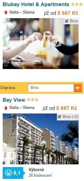 Odlet na dovolenou z Brna