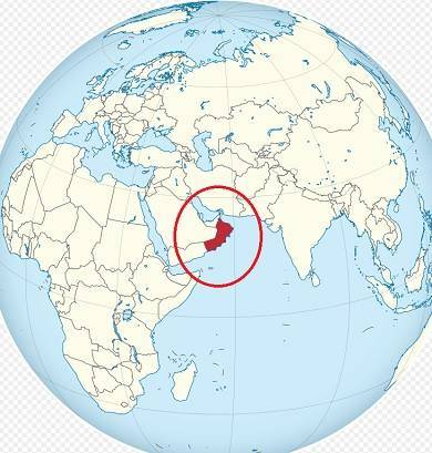 Omán na mapě