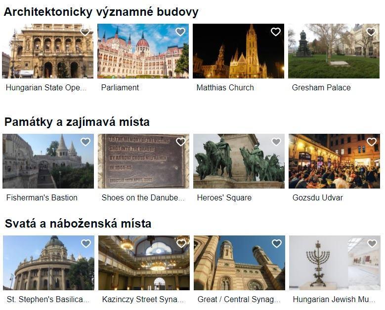 Památky Budapešť Maďarsko