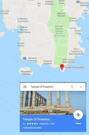 Poseidonův chrám Řecko poloha