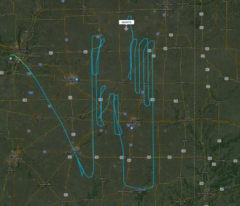 Sledování letů mapování terénu