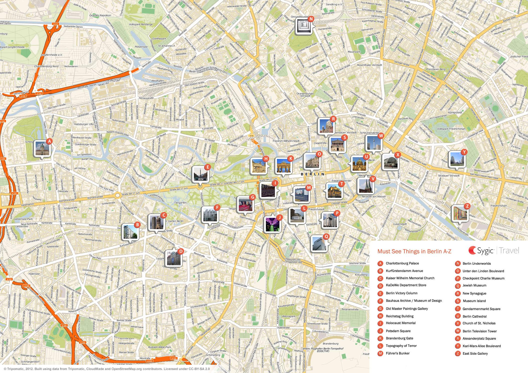 Berlin Mapa Online Mapy I Mapa Berlina Ke Stazeni