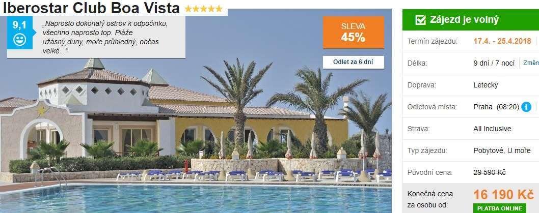 Dovolená Boa Vista Iberostar hotel