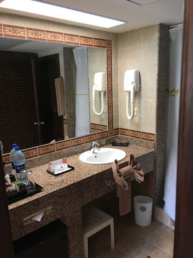 Koupelna u našeho pokoje, Kapverdy ostrov Boa Vista
