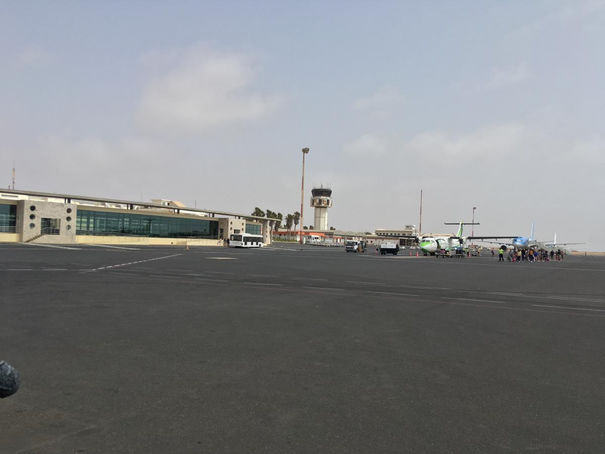 Letiště na ostrově Sal Kapverdy