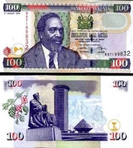 Měna Keňa bankovky keňského šilinku