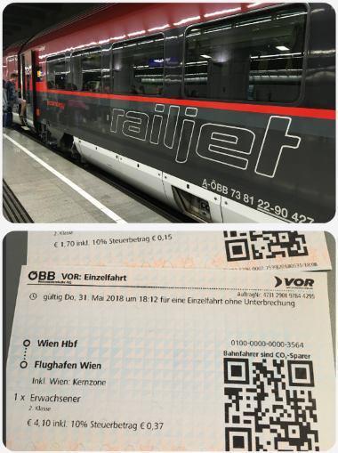 Nejlevnější doprava z centra Vídně na letiště
