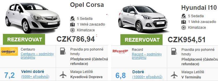 Půjčení auta Malaga
