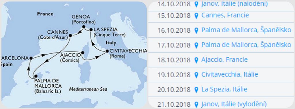 Plavba lodí po středozemním moři nejlepší