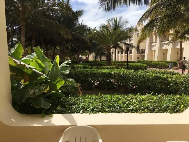 Výhled z našeho ubytování, Kapverdy ostrov Boa Vista