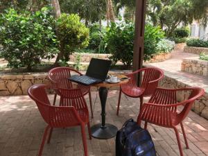 Zahrádka na posezení s šálkem kávy, hotel Iberostar Club Boa Vista, Kapverdy