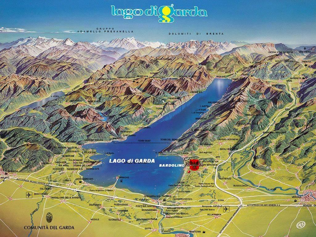 Lago De Garda Mapa.Jezero Lago Di Garda Mapa Online Mapy Ke Stazeni