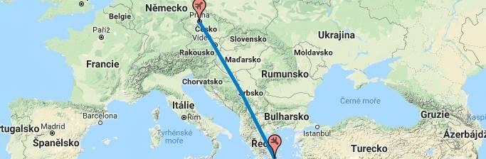 Doba a délka letu do Řecka