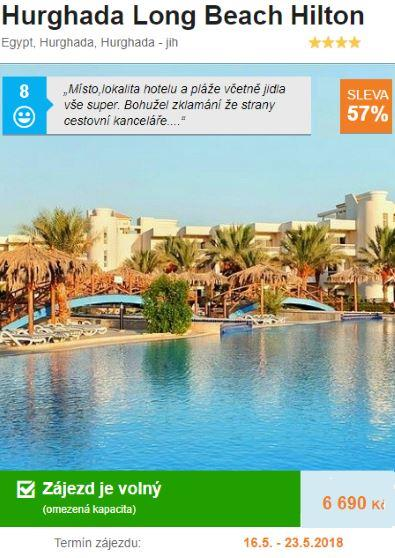 Egypt Hurghada květen dovolená