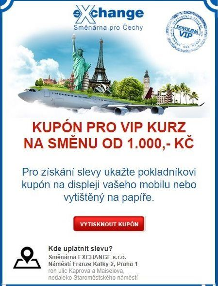 Exchange kaprova VIP kurz