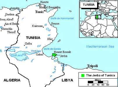 Kde leží Djerba na mapě