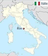 Mapa Řím kde leží na mapě