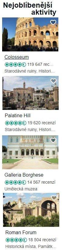 Památky Řím top
