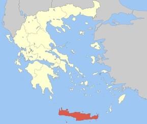 Poloha Kréty na mapě
