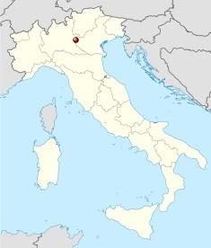 Poloha jezera Lago di Garde na mapě