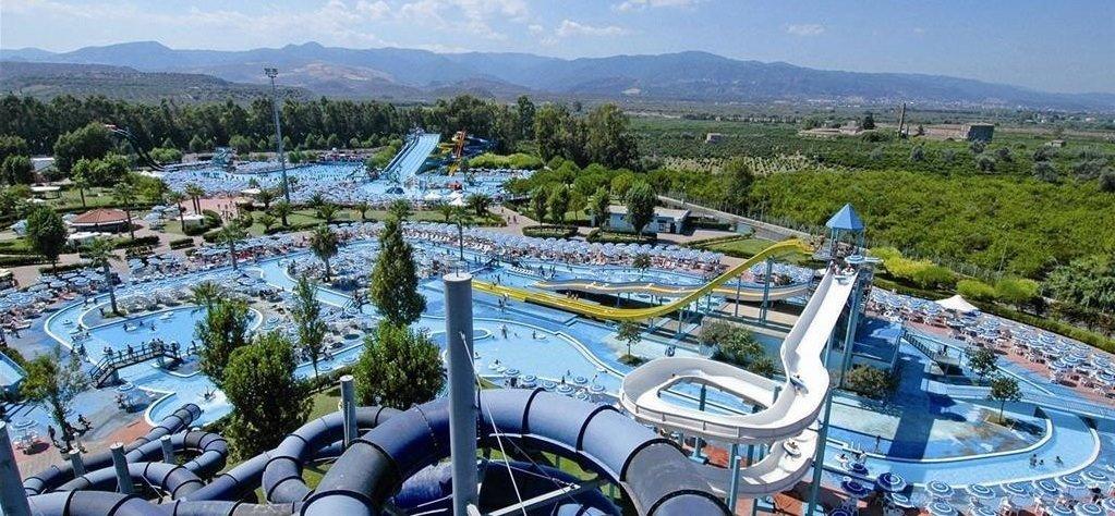 Aquapark hned vedle hotelu v Itálii