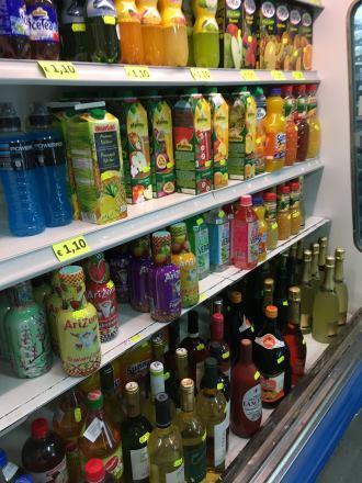 Ceny džusů a alkoholu na Mallorce