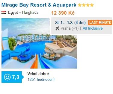 Nejlepší hotely Egypt srovnání