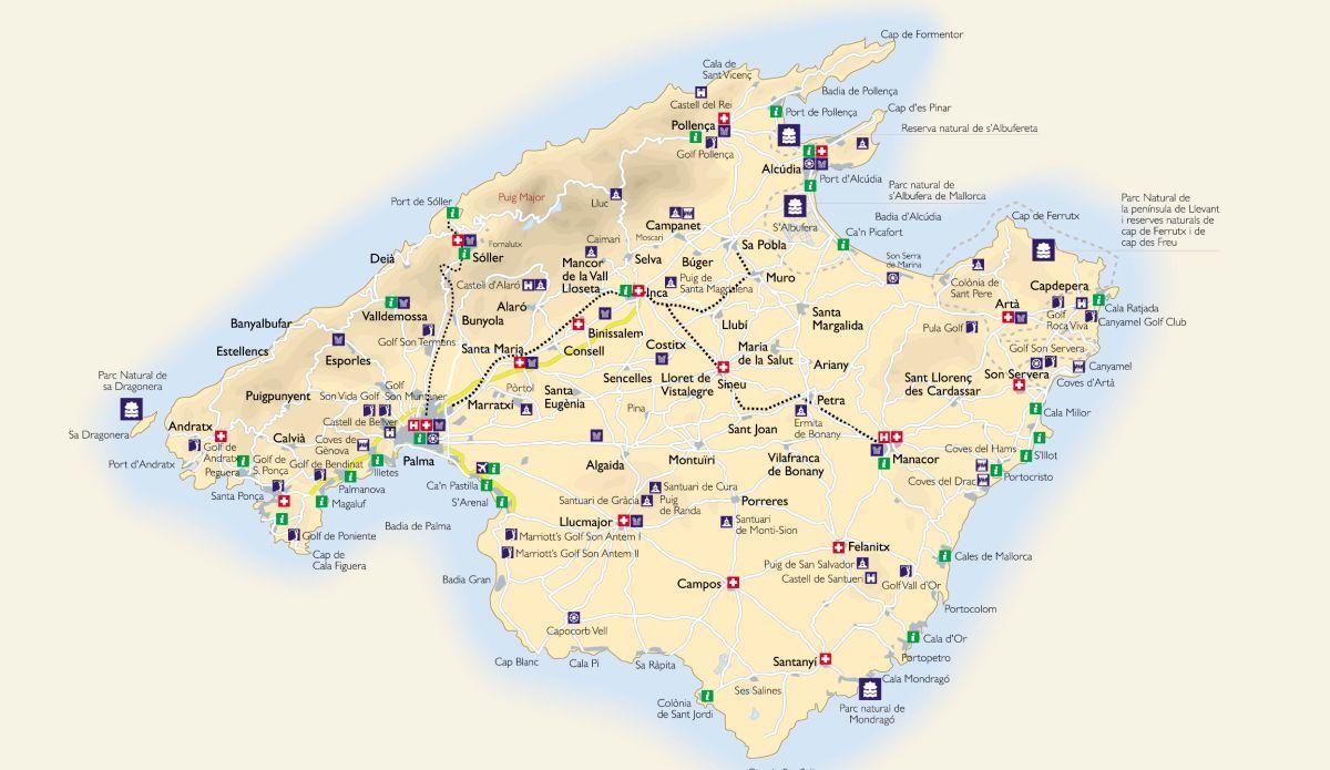 Mallorca Mapa Turisticke Mapy Online Ke Stazeni
