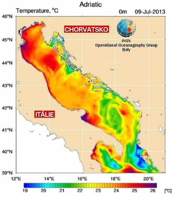 Teplota-moře-v-Chorvatsku