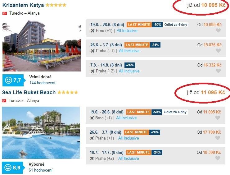 Turecko dovolená hotel s vodopádem