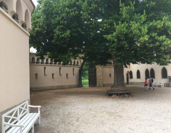 Vnitřní dvůr Franzensburgu