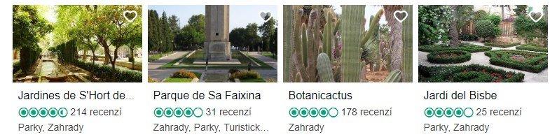 Zajímavá místa na Mallorce TOP 5 zahrady