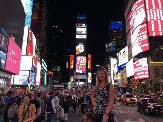 Noční Times Square v New Yorku
