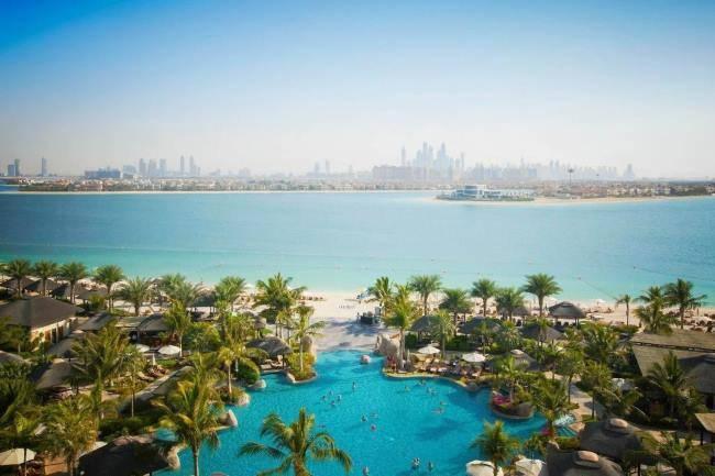 Panorama Dubaje z hotelu Sofitel