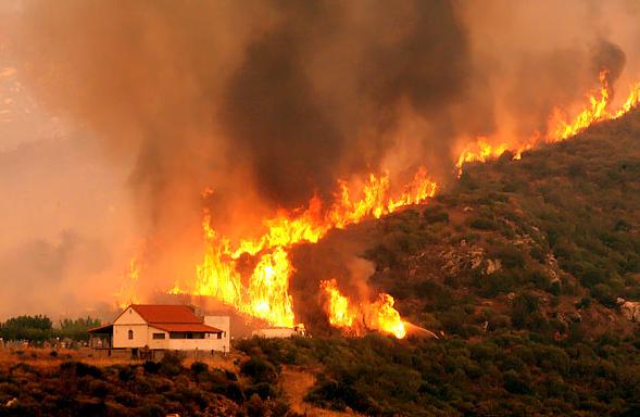Požáry v Řecku