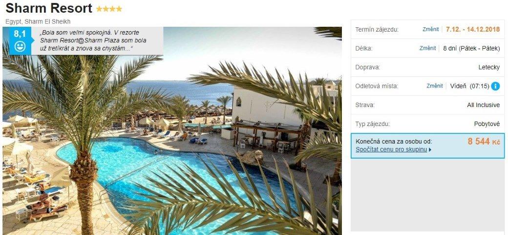 Egypt Sharm el Sheikh dovolená All Inclusive