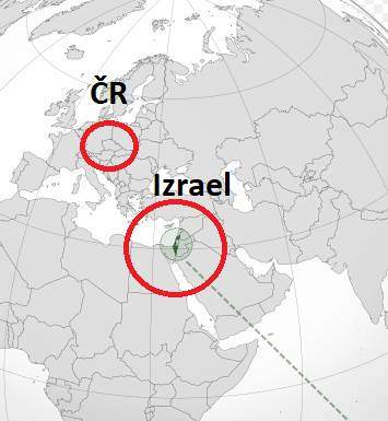Kde leží Izrael poloha Izraele