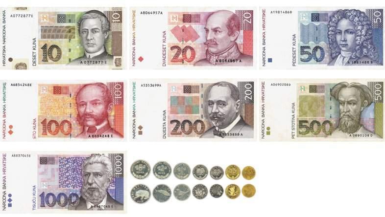 Měna v Chorvatsku chorvatská kuna