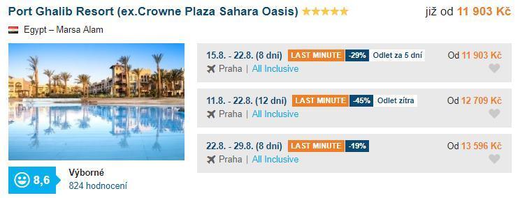 Marsa Alam v Egyptě hotel Port Ghalib