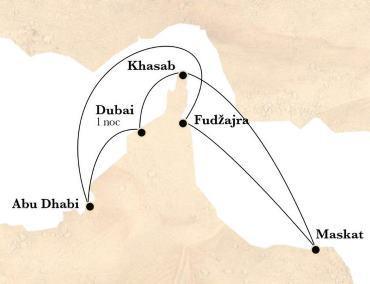 Okružní plavba Dubaj Abu Dhabi Omán