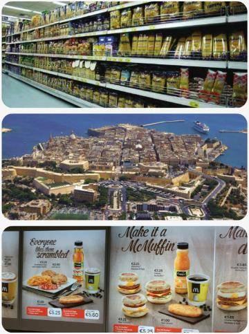 Ceny potravin na Maltě