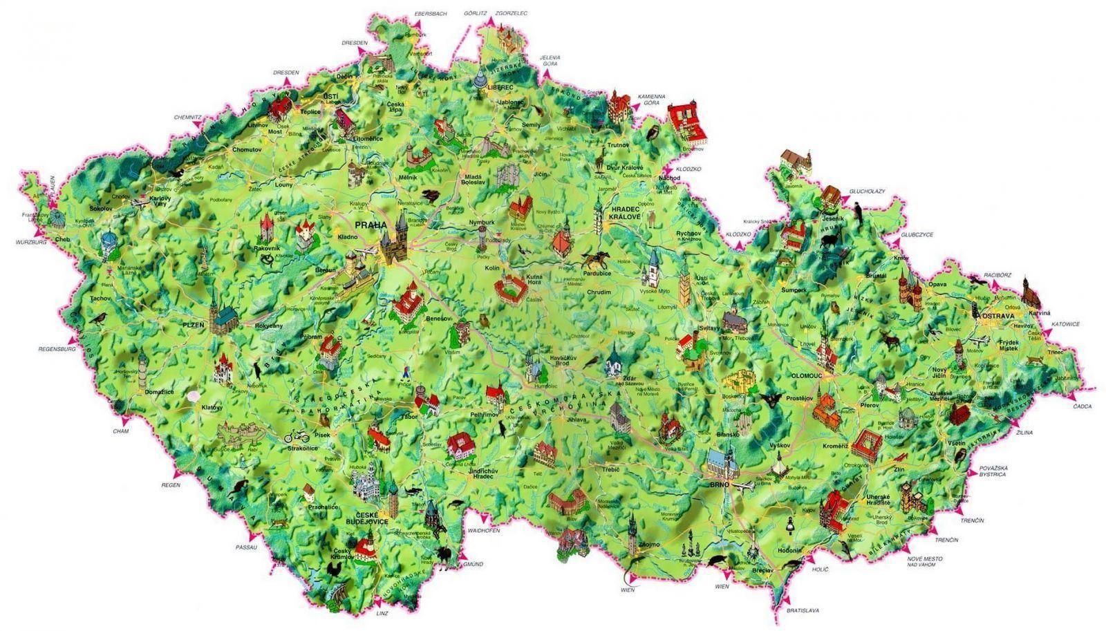 Turisticke Mapy Cr Online Znacky Na Mape