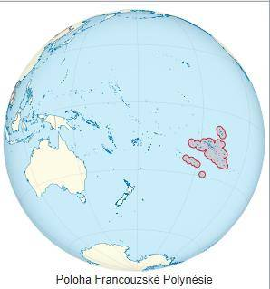 Kde leží Francouzská Polynésie na mapě světa