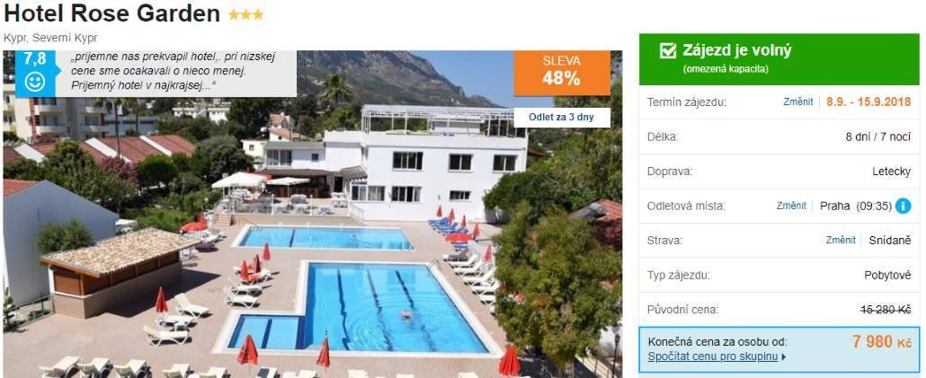 Kypr dovolená s turisty