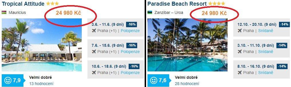 Mauricius a Zanzibar zajímavé zájezdy a dovolená
