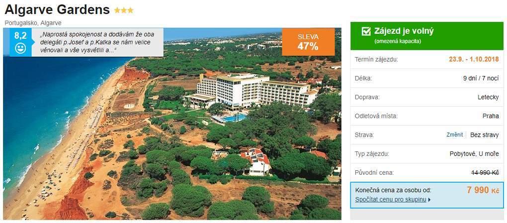 Portugalsko Algarve levně