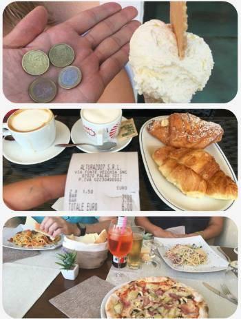 Ceny potravin na Sardinii