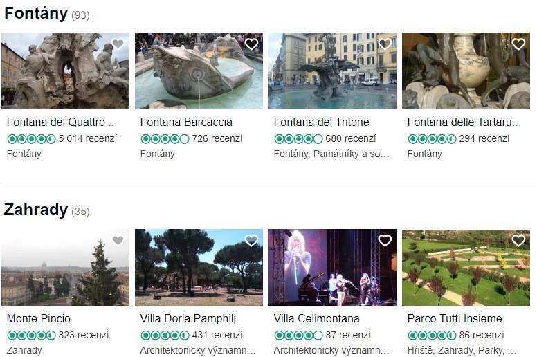 Co vidět a navštívit v Římě